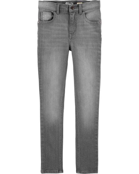 Jeans fuseau coupe régulière - délavage gris crépuscule