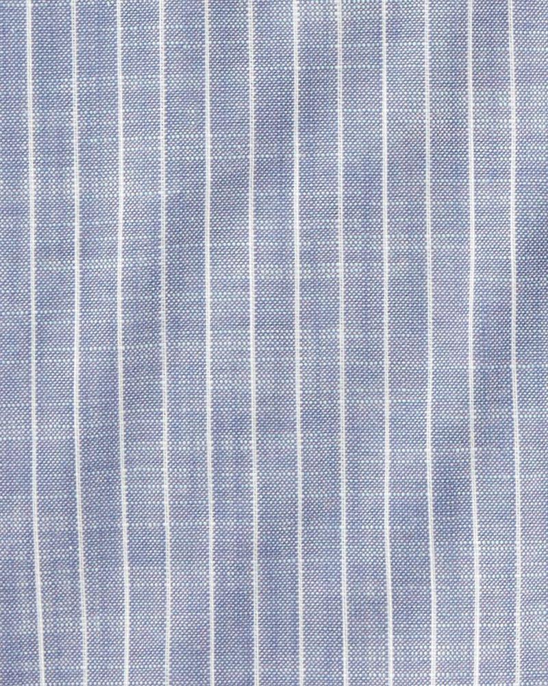 Striped Button-Front Shirt, , hi-res