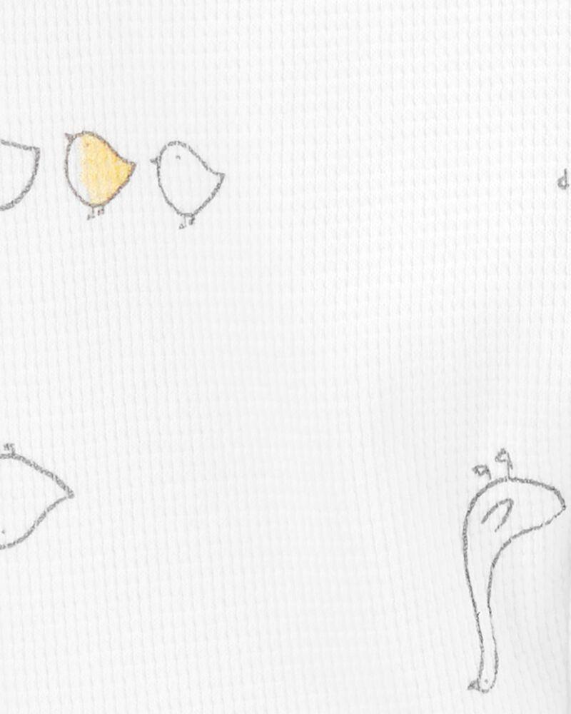Grenouillère pour dormir et jouer en coton avec glissière 2 sens à canard, , hi-res