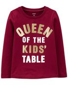T-shirt en jersey Queen Of The Kid's Table , , hi-res