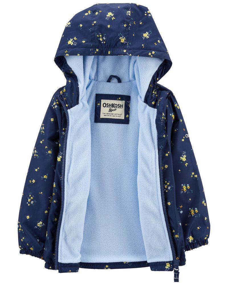 Fleece-Lined Daisy Print Jacket, , hi-res