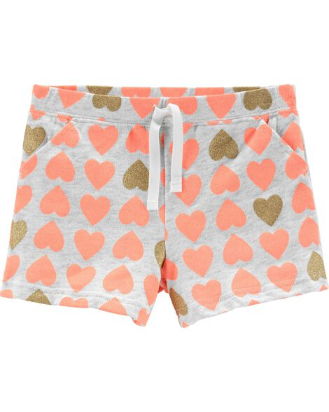 Heart Capri Shorts
