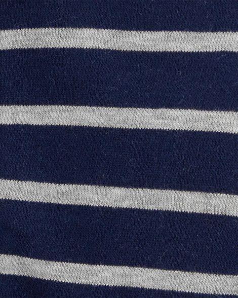 Cardigan à glissière rayé doublé de molleton