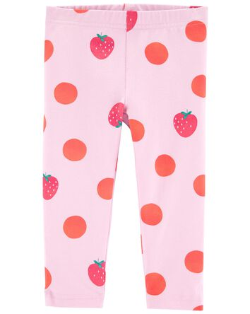 Strawberry Capri Leggings