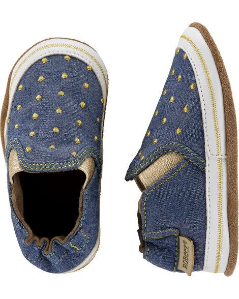 Chaussures à semelle souple en toile de denim