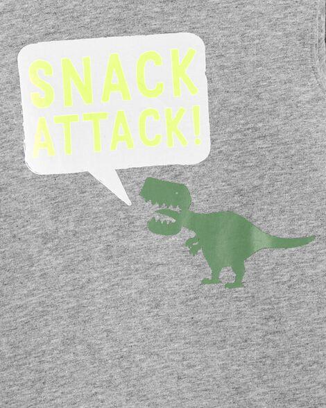 Snack Attack Dinosaur Jersey Tee