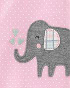 1-Piece Elephant 100% Snug Fit Cotton Footie PJs, , hi-res