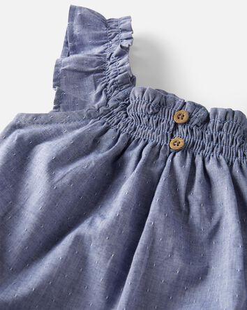 Organic Cotton Smocked Jumpsuit