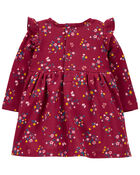 Floral Fleece Dress, , hi-res