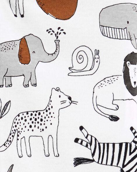 1-Piece Animals Snug Fit Cotton Footless PJs