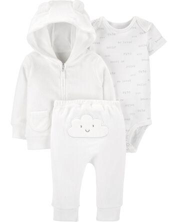 3-Piece Cloud Little Jacket Set