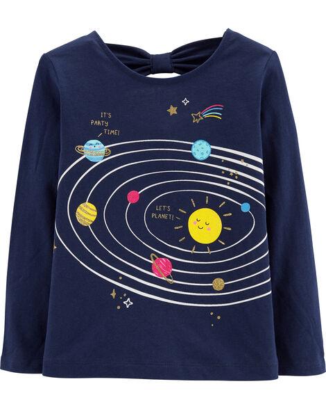 Glitter Solar System Tee