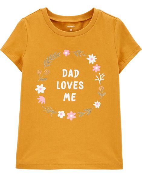 T-shirt en jersey Daddy Loves Me