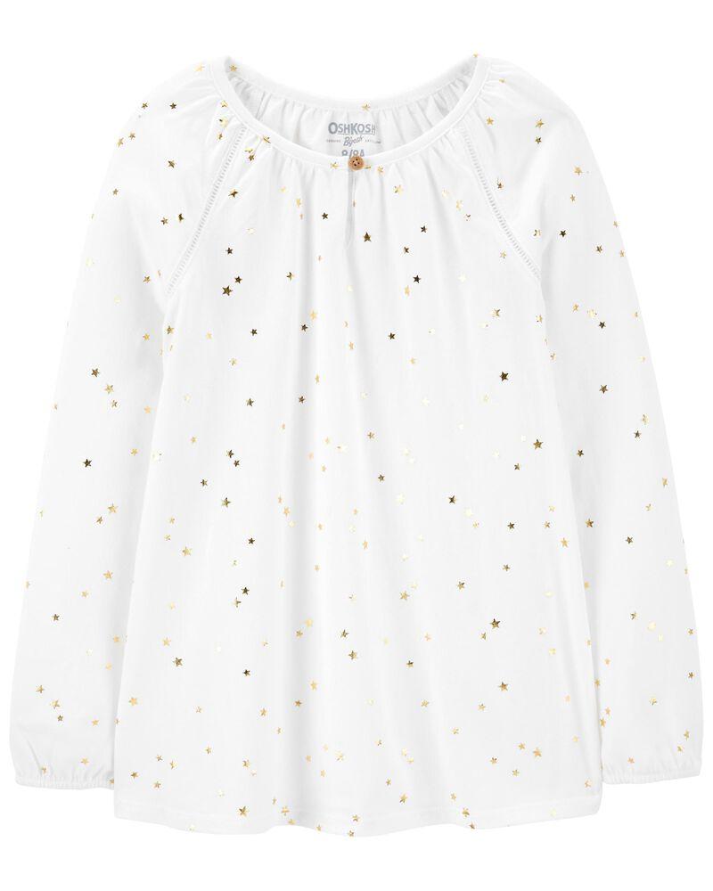 Haut en jersey avec étoiles, , hi-res