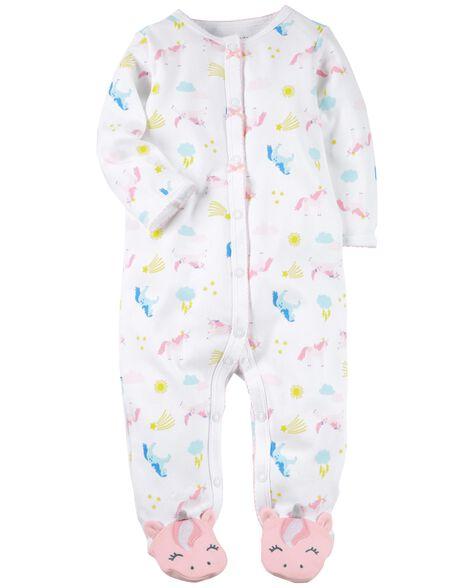Snap-Up Unicorn Cotton Sleep & Play