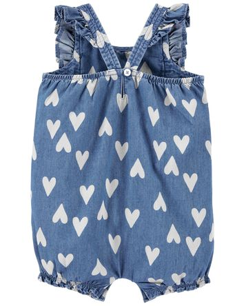 Heart Chambray Romper
