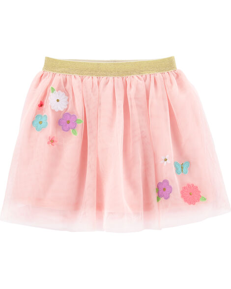 Flower Tulle Tutu Skirt