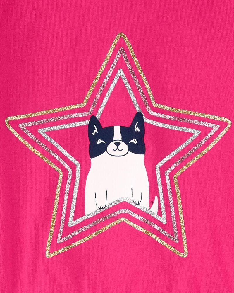 T-shirt en jersey à capuchon, basque et chat, , hi-res