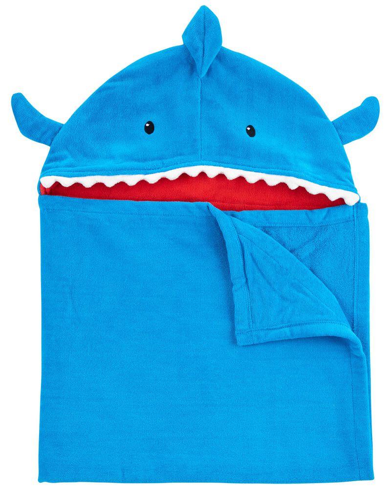 Serviette en tissu-éponge à requin, , hi-res