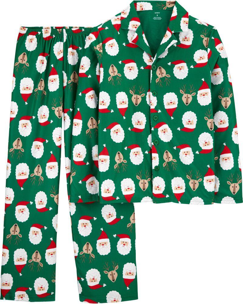 Pyjama festif 2 pièces en molleton pour adulte, , hi-res