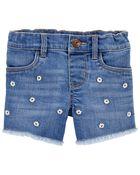 Stretch Denim Shorts in Surfside Wash, , hi-res