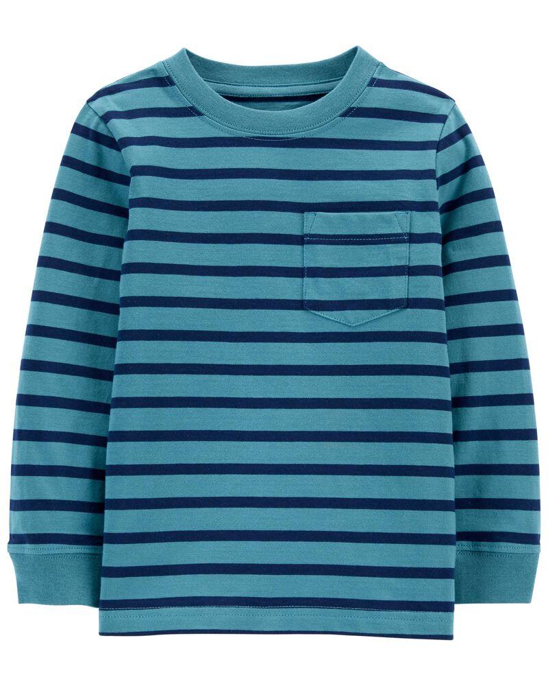Striped Pocket Jersey Tee, , hi-res