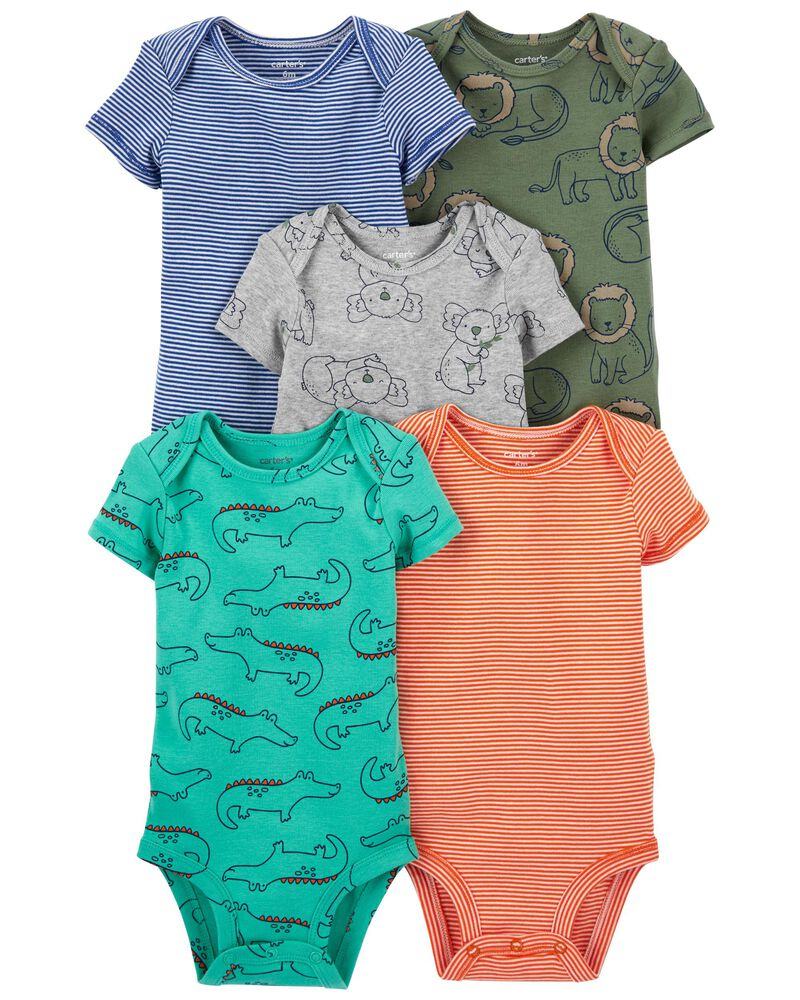 5-Pack Short-Sleeve Bodysuits, , hi-res