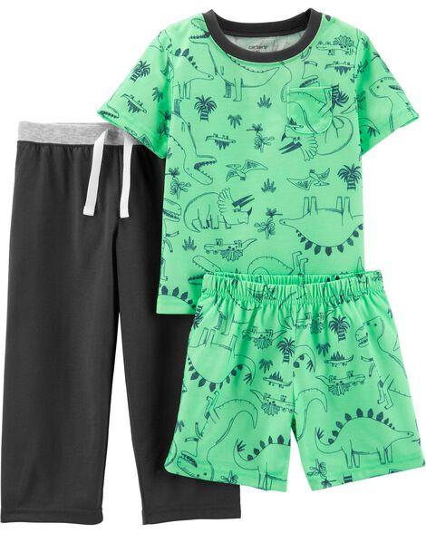 Pyjama 3 pièces en polyester à dinosaure