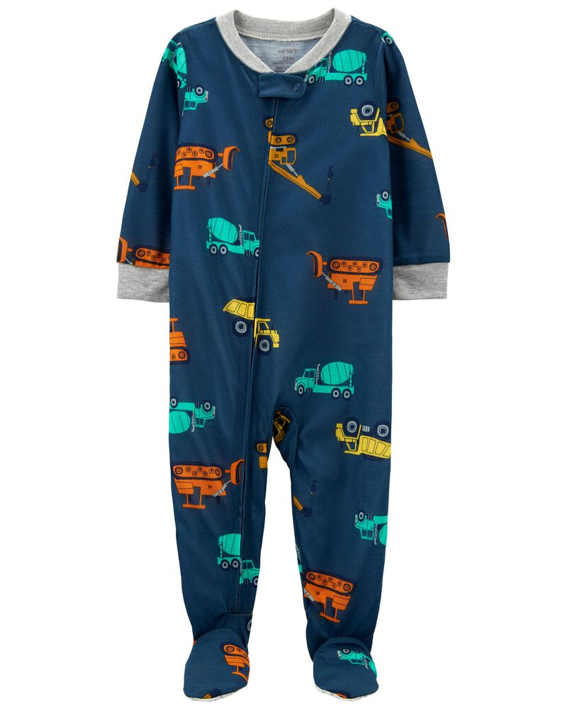 1-Piece Construction Loose Fit Footie PJs, , hi-res
