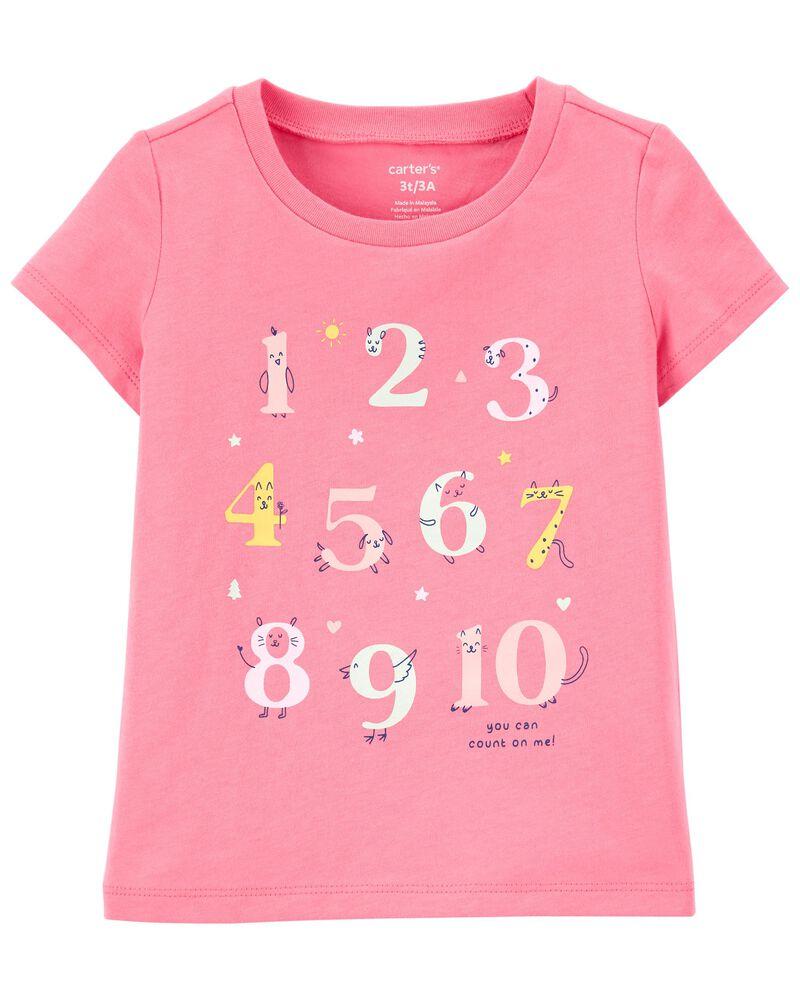 T-shirt en jersey à chiffres, , hi-res