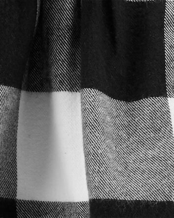 2-Piece Plaid Top & Corduroy Pant S...