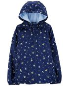 Floral Fleece-Lined Jacket, , hi-res