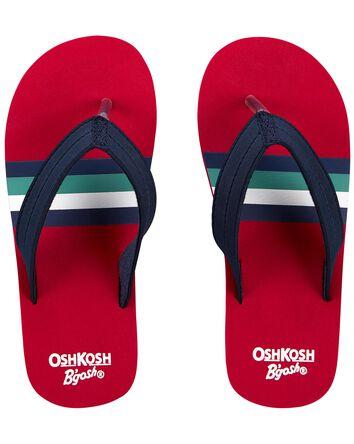 Sandales de plage à rayures rétro