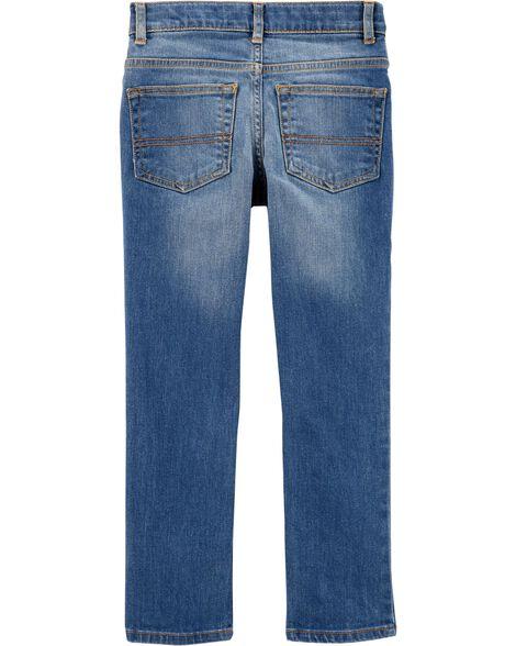 Regular Fit Skinny Jeans - Indigo Bright Wash