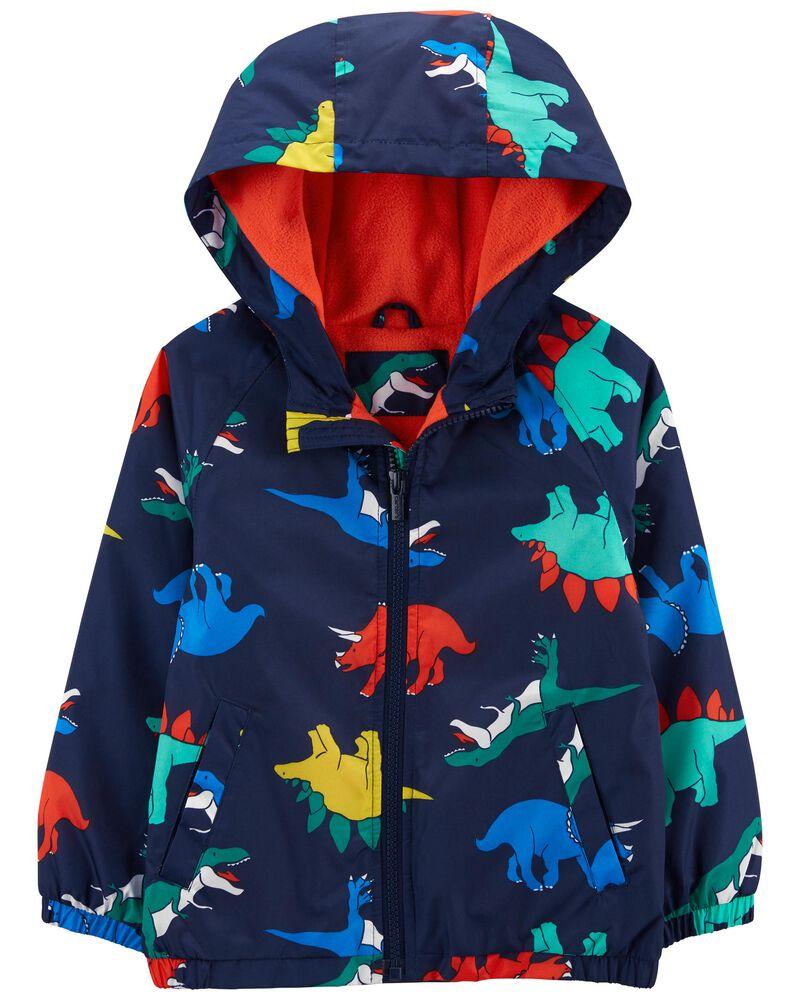 Fleece-Lined Dino Print Jacket, , hi-res