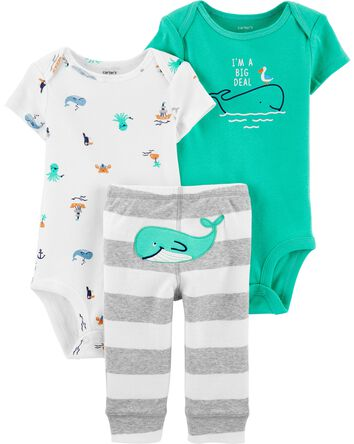 3-Piece Whale Little Character Set