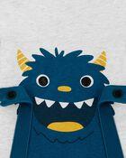 Ensemble 2 pièces chandail en jersey bouclé et pantalon Monstre, , hi-res