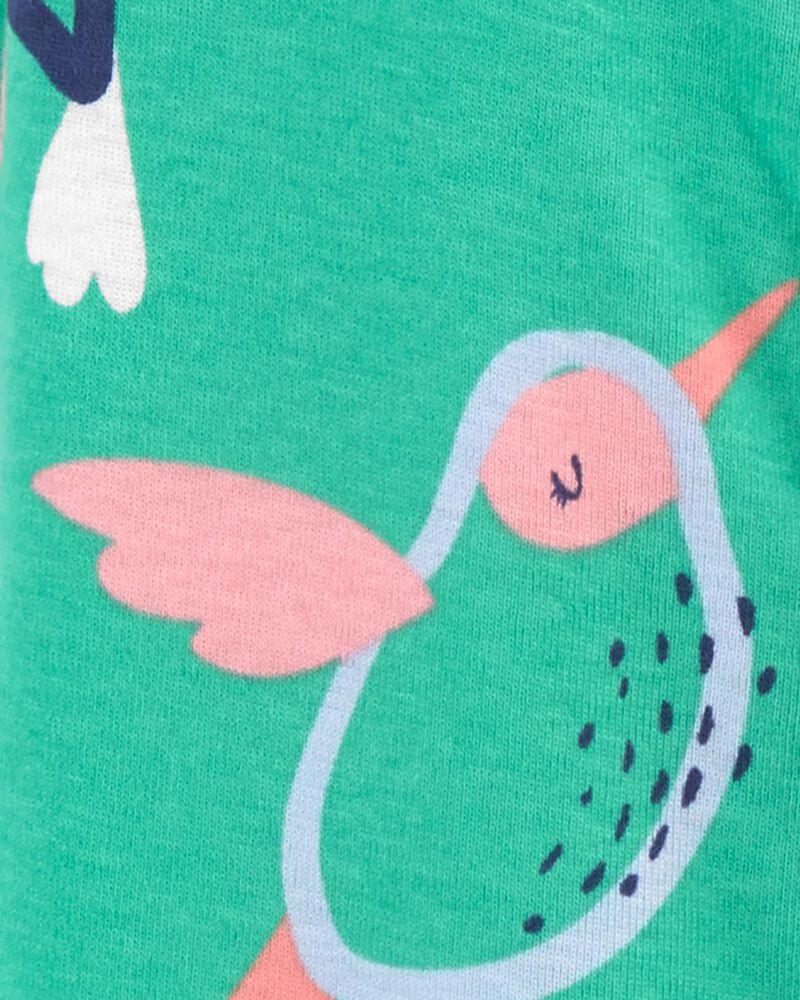 1-Piece Hummingbird Snap-Up Footless PJs, , hi-res