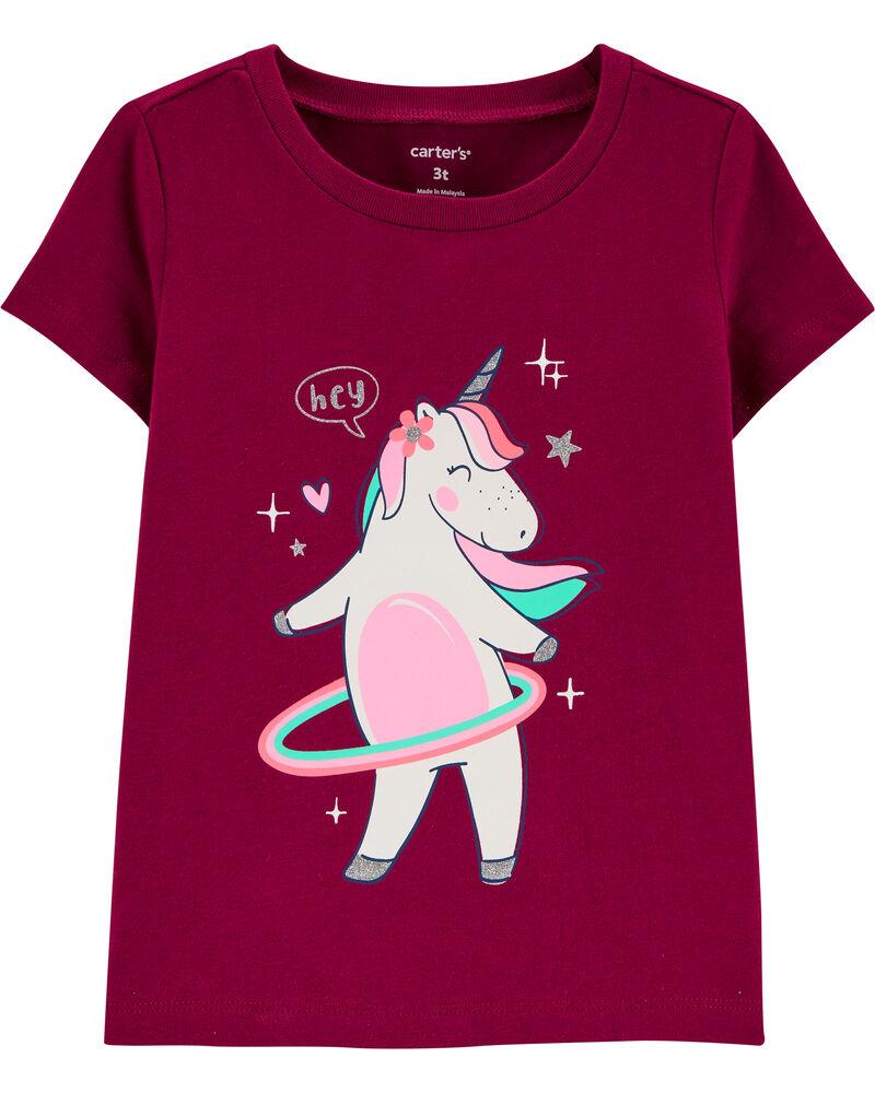 Hula Hoop Unicorn Jersey Tee, , hi-res