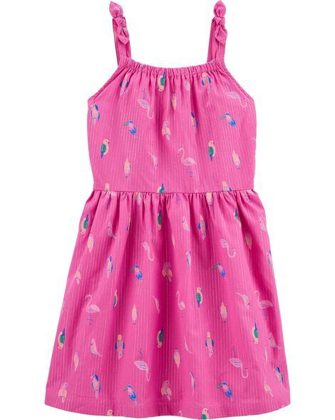 Tropical Flamingo Tank Dress