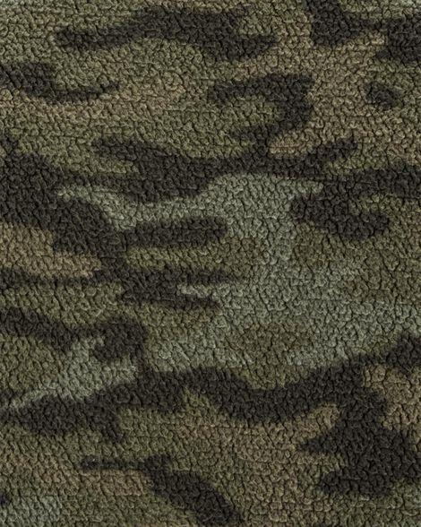 Camo Sherpa Pullover Sweatshirt