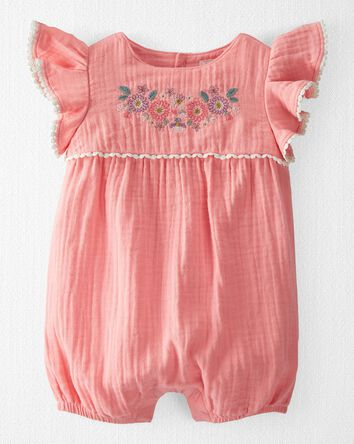 Organic Cotton Gauze Bubble Sunsuit
