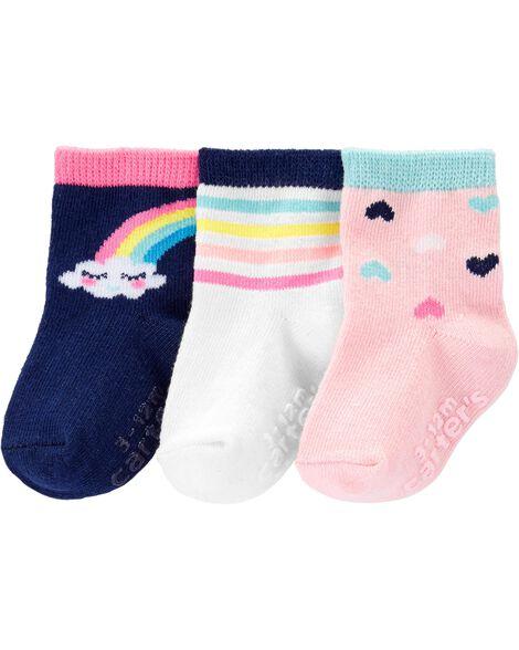 3-Pack Rainbow Crew Socks
