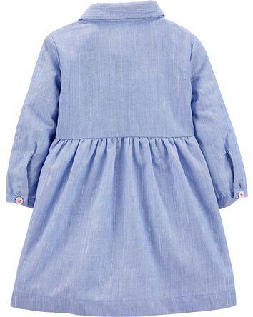 Chambray Striped Dress