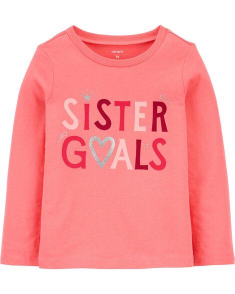 Sister Goals Jersey Tee