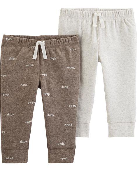 Emballage de 2 pantalons en coton mélangé