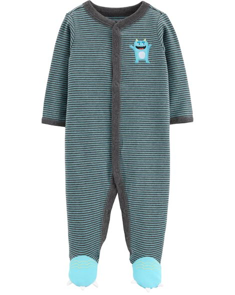 Monster Snap-Up Cotton Sleep & Play