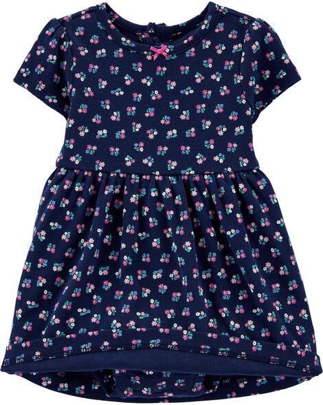 2-Piece Bodysuit Dress & Cardigan Set