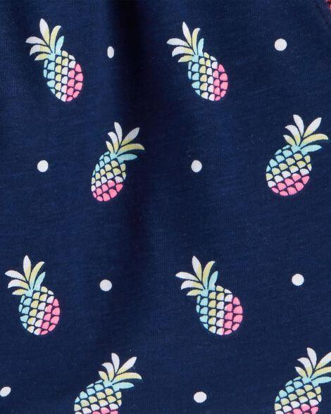 Short à ananas et pompons