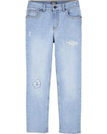 Stretch Rip and Repair Jeans - Slim...